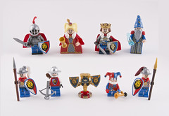 Castle redux (Hammerstein NWC) Tags: lego purist castle paladin king magic mage wizard merlin guard queen redux fantasy jester fun classiccastle crossbow crown