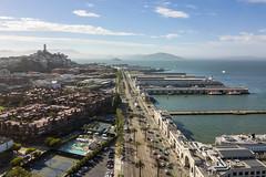 Embarcadero (sirgious) Tags: sanfrancisco dji mavicpro drone skyline coittower telegraphhill bay port waterfront embarcadero