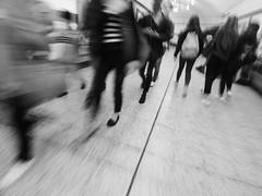 Rush Hour (Darren-Holes) Tags: streetphotography streetphoto blur motion movement blurry blackandwhite blackandwhitephotography blackandwhitephoto urbanphoto urbanphotography urban urbanlife streetlife streets underground london londonunderground rushhour busy monochrome