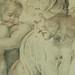 RUBENS (d'Après BUONARROTI Michelangelo) - La Sibylle de Cumes, Chapelle Sixtine (drawing, dessin, disegno-Louvre INV20226) - Detail 15