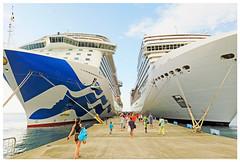 """Like Walking in a Valley"" - Dockside, Grenada (TravelsWithDan) Tags: cruiseships hugeboats dock people outdoors grenada caribbean island candid"