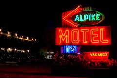 TV & vacancy at roadside motel, Appalachia (sniggie) Tags: easternkentucky motel nightphotography kentucky vacancy appalachia alpikemotel signage sign