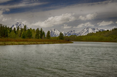 Tetons at Oxbow Bend (rschnaible) Tags: grand teton national park west western us usa wyoming sightseeing outdoor landscape oxbow bend snake river water mountains