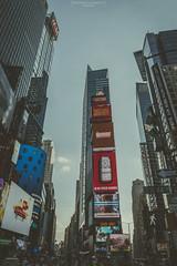 Ads everywhere (Mariano Colombotto) Tags: timessquare newyork manhattan ny nyc buildings street streetphotography nikon travel unitedstates usa signs ciudad viaje autofocus infinitexposure