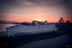Al final del día (Óscar Torralba) Tags: deltadelebro barco boat crepusculo horaazul bluehour sunset