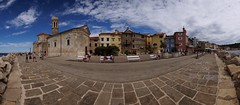 Piran (pix-4-2-day THANX for 1 m views) Tags: pano panoramic panorama town old historische altstadt blue sky blauer himmel wolken clouds pavement pflaster weis white see sea meer adriatic adria slowenien slovenia