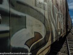 #Train #grafitti at #hebervalleyrailroad . . . . #Explorediscovershare #photography #train #abandoned #art #olympusomdem1 #olympus #getolympus #mirrorless #mirrorlesscamera #utah #heber #utahphotographer #railroad #art #flickr #picoftheday #photooftheday (explorediscovershare) Tags: instagram train grafitti hebervalleyrailroad explorediscovershare photography abandoned art olympusomdem1 olympus getolympus mirrorless mirrorlesscamera utah heber utahphotographer railroad flickr picoftheday photooftheday