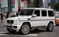 (seua_yai) Tags: car automobile asia korea southkorea korean seoul urban city street wheels urbanmobility go koreaseoul2017 mercedes benz gwagon