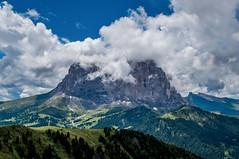 Mountain In Clouds (bjorbrei) Tags: mountain sky clouds sassolungo sasslongher langkofel dolomites dolomiten dolomiti dantercepies selva wolkenstein valgardena gröden gherdëina tyrol tirol tirolo italiy italia