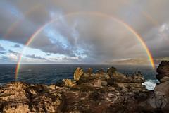 Somewhere over the Rainbow - West Maui (brandon.vincent) Tags: west maui rainbow rain storm lava martian landscape pacific ocean double