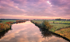 Kanal in Ostfriesland (ostfriese77) Tags: sky dramatic clouds canal water reflection spiegelung ostfriesland landscape landschaft deutschland germany niedersachsen nikon d5100 lightroom
