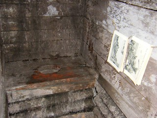 National Arboretum, England - replica of the toilets in the trenches