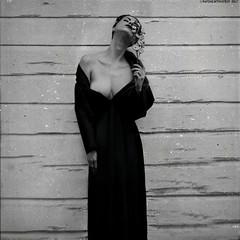 """The Buttoned Longing"" III│ second interpretation (RapidHeartMovement) Tags: self selfportrait squareformat portrait poeticalinspirations poświatowska poetry photography blackwhite conceptual conceptart rapidheartmovement"