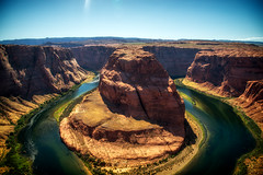 Horseshoe Bend (elparison) Tags: az arizona horseshoe bend southwest trip hdr oloneo sky clouds sun river rocks page allaperto nikon nital nikkor