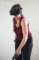 Vive (SheehanRaziel) Tags: vive vr virtual reality girl action pc cyberpunk htc headset tracking tanktop