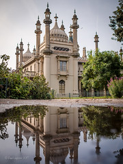 Pavilion After the Rain 29/52 (amipal) Tags: architecture brighton building city england gb greatbritain history pavilion paviliongardens royalpavilion sussex uk unitedkingdom urban reflections water puddle 175mm voigtlander prime manuallens