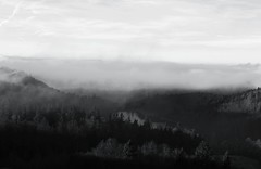 Transylvanie française... (fantassindemesdeux) Tags: france alsace spooky scary fog foggy travel trip vacation holiday holidays mountain moutains montagne montagnes black white noir blanc brouillard nuages nuage cloud clouds cloudy nature landcape