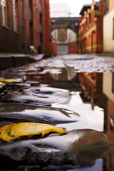 Barton Street, Manchester (nickcoates74) Tags: manchester rain puddle reflection sony a6000 ilce6000 30mmf28dn 30mm sigma bartonst bartonstreet castlefield
