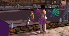 RFL 2017 - Rowena and Henrietta visit camp Quest for a Cure (Osiris LeShelle) Tags: secondlife second life avilion rfl rflinsl relayforlife relay quest cure questforacure camp campsite rowena henrietta visit
