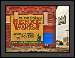 Henne Sign (the Gallopping Geezer '4.8' million + views....) Tags: sign signs signage building structure old worn faded decay decayed oldtown saginaw mi michigan business ad advertise advertisement store storefront canon 5d3 geezer 2016