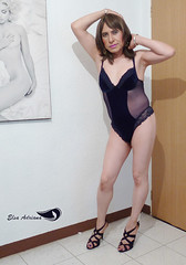 Navy blue body, high-heeled open sneakers. (Elsa Adriana) Tags: elsaadriana elsa sexylegs blue mature mexican tgirl travesti transvestite transgender tbabe tv transgenero lingerie