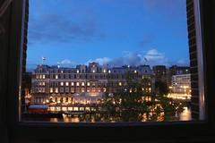 Amstel hotel, 10:30 July 2017. Amsterdam (Belli1966) Tags: frame window night river amstelamsterdamhotel