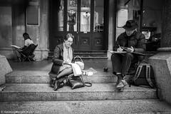 HML04054 (h.m.lenstalk) Tags: oz aussie australia australian street sydney noctiluxm 50 095 black white people urban life city leica m typ 240 elmar superelmar 21mm 13421 asph 21