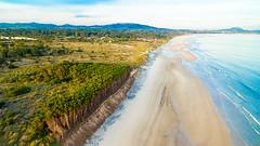 Jaureguiberry (Marcelo Campi Amateur photographer) Tags: hills beach playa sunset forest trees aerialphotography mavic winter uruguay canelones jaureguiberry sand ocean waves clouds sky