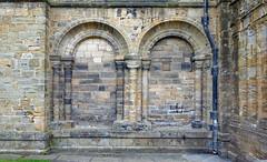 Durham Cathedral, exterior blind arcade