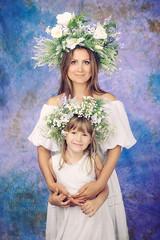 Весняночки (MissSmile) Tags: misssmile family love connection tenderness ukraine delicate mom mother daughter embrace art artistic creative headpiece