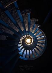 Eye of the dragon - URBEX ((Virginie Le Carré)) Tags: urbex urbain urban lost derelict decay decayed desolate désaffecté d800e escalier stairs mosaïques spiral spirale clairobscur cercle circle inside intérieur contreplongée manoircolimaçon deep profondeurs mosaic hdr ybs2017 staircase light france