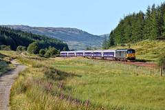 The Breakfast Show (whosoever2) Tags: unitedkingdom uk gb greatbritain nikon d7100 july 2017 railway railroad train scotland tyndrum caledonian sleeper west highland line class73 73968 1y11