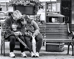 A Friendship bench (sasastro) Tags: bench people candid streetphotography sudbury suffolkuk