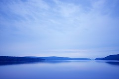 Into the blue (cmarie1032) Tags: blue nature hill lake water reservoir reflection peaceful calm tranquil july summer quabbin massachusetts hiking outdoors nikon d5100 waterscape color sunset newengland belchertown sky cloud smooth tree wide angle
