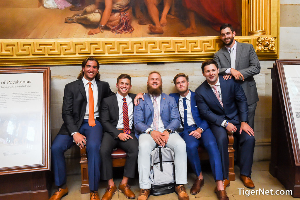 Clemson Photos: Ben  Boulware, Nick  Schuessler, 2017, Football, whitehouse