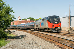17-3522 (George Hamlin) Tags: virginia culpeper railroad passenger train amtrak northeast regional atk 176 phase one heritage unit general electric diesel locomotive p42 genesis 156 bloody nose scheme special photo decor george hamlin photography amfleet coaches