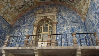 Portugal (Obidos) The beautiful tile paints of the Porta da Vila, main entrance gate of the medieval city