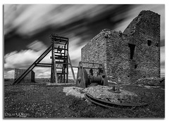 The Old Mine. (peterwilson71) Tags: sky landscape travel tower old vintage arcitecture building black and white monochrome wall dark stone abandoned decay deralict ruin