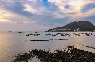 Sunset above Vung Tau seashore   (Cap Saint Jacques)