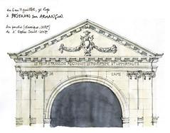 Brienon sur Armançon (gerard michel) Tags: france bourgogne yonne église portail sketch croquis
