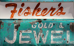 Blingery (Junkstock) Tags: advertisement advertising aged arizona business commerce distressed decay decayed enterprise fredonia graphics graphic green paint patina peelingpaint relic sign signage signs text typography type weathered