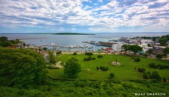 Beautiful Mackinac Island (mswan777) Tags: mackinac island mackinaw fort harbor boat ship ferry water lighthouse breakwall travel landscape seascape city street park nikon d5100 sigma 1020mm outdoor scenic statue marquette