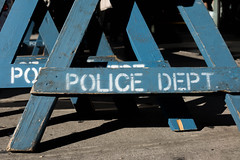 Police Department Barricades (Au Kirk) Tags: nyc do manhattan cop emergency city background safety police nypd cross america law barrier wood danger accident wooden new warning crime scene urban white barricade crowd line blue usa symbol control sign investigation york security