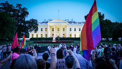 2017.07.26 Protest Trans Military Ban, White House, Washington DC USA 7683
