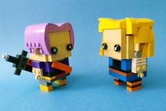 Trunks & Android 18 @ Dragonball Z (Brickheadz) (Rokan Cheung) Tags: lego moc トランクス dragon ball android 18 人造人間18 trunks brickheadz lazuli ラズリ bricksetbrickheadzcompetition