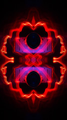 Neon Pink Machine (jgesq) Tags: camera vintage lightpainting light lightbrushtools lightpaintingbrushes lightblading godlight stills stilllife neon bright color illustration design popart fineart streak streaks bnw monochrome artgallery studio fire iron metal steel