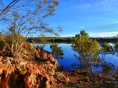 Winter hues by tidal creek I (elphweb) Tags: fhdr falsehdr pseudohdr nsw australia coast coastal water ocean bay lake creek