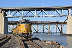 Benicia over-under (CN Southwell) Tags: up union pacific martinez benicia bridge amtrak capitol corridor california
