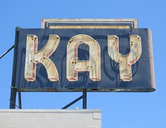 Kay Chesterfield Upholstery Sign - Oakland, Calif. (hmdavid) Tags: kaychesterfield upholstery shop vintage neon roadside advertising 1950s midcentury design oakland california signage