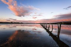 Peaceful (Tony N.) Tags: denmark danemark pier ponton sunset coucherdesoleil couchant colors sky ciel orange borreknob fjord vanguard nikon d810 reflets reflections tonyn tonynunkovics